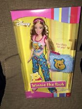 New Mattel 2004 Winnie The Pooh Barbie Doll & Keychain