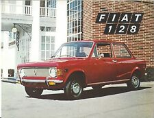 FIAT 128 car sale brochure 1970's biggest selling car in Europe 8 x 9 softcover