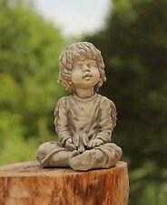 Séance ANGE AVEC OISEAU pierre sculpture en fonte résistant au gel NEUF v-114111
