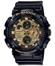 Casio G-Shock *GA140GB-1A1 Gold Dial Glossy Black Resin Watch for Men