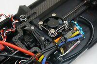 XRAY XB4 '17-'20 Fan Mount Upgrade Direct Motor Cooling 30x30mm BLACK