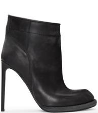 HAIDER ACKERMANN - Black Heeled Leather Ankle Boots SSENSE - US 9 EU 39 NWOB