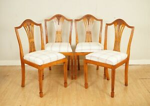 VERY LOVELY BRIGHTS OF NETTLEBED WHEATEAR YEW WOOD DINNING CHAIRS