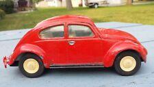 Vintage 1960'S 70's Tonka Red Volkswagen Beetle Bug Car Pressed Steel VW