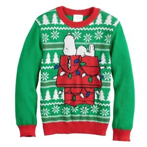 Peanuts Snoopy Holiday Sweater Boys Size 5 Jumping Beans Knit