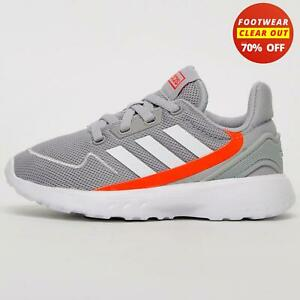 Adidas Nebzed Unisex Jogging Fitness Gym Workout Casual Trainers Grey