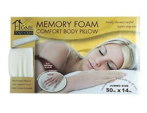 "Premium Shredded Memory Foam Body Pillow 50"" X 14"""