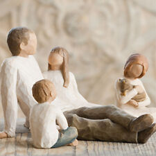 Willow Tree Father with Son and Two Daughters Figurine Gift Set Family Group