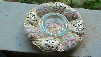 VINTAGE CAPODIMONTE LARGE HANGING DECORATIVE PORCELAIN PLATE WALL ITALY PLATTER