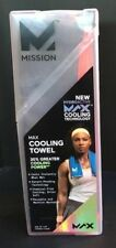 Mission New HydroActive Max Large Cooling Towel Charcoal/High Vis Coral, 11 x 33
