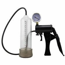 Manual Penis Vacuum Pump Stretcher with Pressure Gauge Physical Extend Exerciser