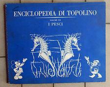 ENCICLOPEDIA DI TOPOLINO VOLUME VII I PESCI ALBUM FIGURINE COMPLETO + PUNTI CLUB