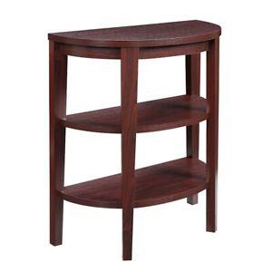 Convenience Concepts Newport 3 Shelf Console, Mahogany - 121099MG