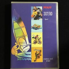 Pfaff Sports Embroidery Designs creative Card #307/80 for 2140 2160 2170