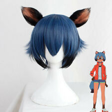 Anime BNA Kagemori Michiru Cosplay Wig Blue Black Mixed Gradient Short Hair Wig