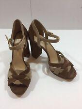 New Michael Kors Women's Suede Annaliese High Heels Platform Sandal Size 9.5