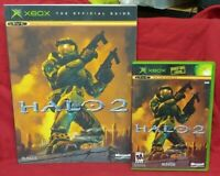 Halo 2 + Strategy Guide Org Microsoft Xbox Game Complete 1 Owner Near Mint Disc