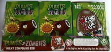NEW Plants Vs Zombies Chocolate Egg Toy Surprise Box of 6 FREE SHIPPING