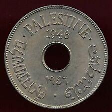 Palestine 1946 10 mils unc coin
