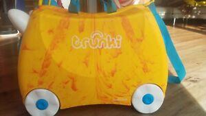 trunki Kinderkoffer - gelb orange hellblau