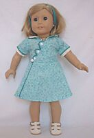 """Doll Clothes 18"""" Doll Dress Green White Fits American Girl Doll Kit 1930"""