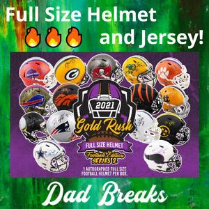 WASHINGTON REDSKINS autographed Gold Rush Full-Size Helmet + Jersey: 2 BOX BREAK