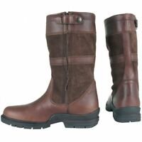 Horka York Unisex Waterproof Short Leather Country Boots in Brown