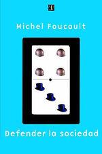 NEW Defender La Sociedad (Spanish Edition) by Michel Foucault