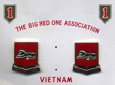 Vietnam era 1st Infantry Division 2nd Bn 33rd Artillery Di Unit Crest Pair