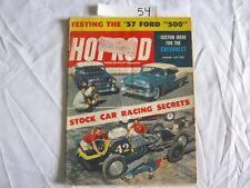 Hot Rod Magazine January 1957 '57 Ford 500 '41 Ford '54 Olds V8 '57 Merc