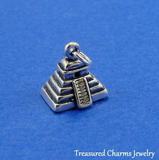 .925 Sterling Silver MAYAN AZTEC PYRAMID Egyptian CHARM PENDANT *NEW*