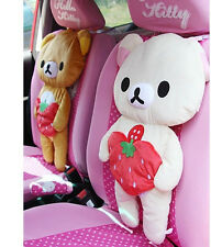 San-X Rilakkuma Relax Bear Auto Car Seat Head Rest Soft Back Seat Cushion Pillow