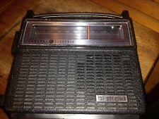 General Electric GE Transistor Radio model 7–2810F Black Transistor 2 Way Power