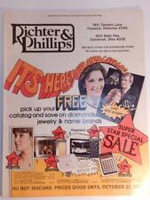 VINTAGE 1978 RICTER & PHILLIPS CATALOG JEWELRY SUITCASES CAMERA RADIO STEREO