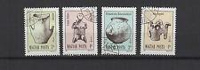 art du Néolithique Hongrie 1987 une série de 4 timbres / T1650