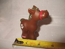 Fisher Price Little People barn farm xmas manger stable pony horse brown spots