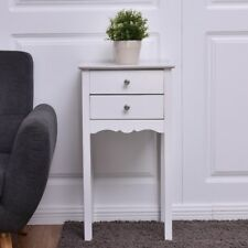 Home Sofa Bed Side End Table Desk Nightstand Bedstand 2 Drawers Furniture US