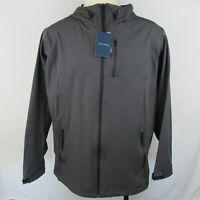 Cole Haan Grand OS Hooded Waterproof Rain Jacket Gray 538AP448 Size XL NWT