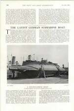 1902 Strange Looking German Submarine Launched Kiel