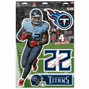 """DERRICK HENRY TENNESSEE TITANS MULTI-USE DECALS 11""""X17"""" LIKE A FATHEAD NFL"""