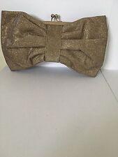 Elegante DONNA WOMEN'S Scintillante Fiocco a forma di borsa da sera con un cinturino catena d'oro