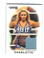 WWE Charlotte 2016 Topps Heritage Survivor Series Mat Relic Card SN 189 of 199