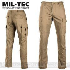 Pantaloni Militari Cargo MILTEC BDU in Ripstop Con Tasconi Softair Outdoor KHAKI