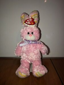 Ty Beanie Baby - Hoppity - Pastel Pink Easter Bunny 2009 *