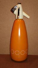 Siphon orange vintage BOC aluminium ancien cuisine eau de seltz soda déco