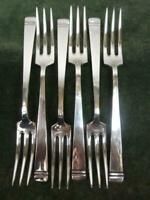6 Nice Vintage Mappin Webb Dinner Table Forks silver plated Classic pattern