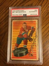 Boom Boom GEOFFRION Signed PSA DNA 1963 Parkhurst #88 RARE Deceased AUTO HOF