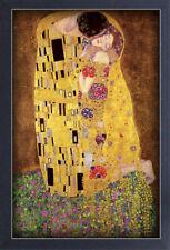 GUSTAV KLIMT THE KISS 13x19 FRAMED GELCOAT POSTER ART NOUVEAU PAINT GOLDEN ERA !