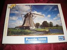 """Puzzle 1000 pièces """"Moulin, Les Pays Bas"""""""