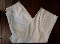Spirithouse Sz L regular womens pants blend white stretch waist sailing pants